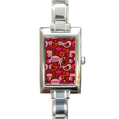 Xoxo! Rectangle Italian Charm Watch by Nexatart
