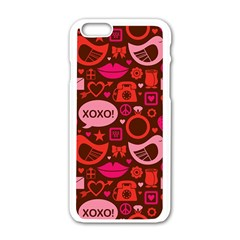 Xoxo! Apple Iphone 6/6s White Enamel Case by Nexatart