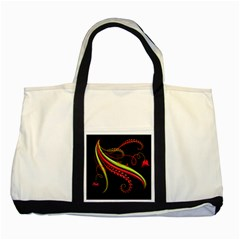 Cool Pattern Designs Two Tone Tote Bag by Nexatart