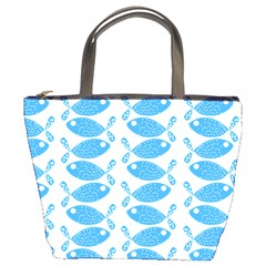 Fish Pattern Background Bucket Bags by Nexatart