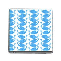 Fish Pattern Background Memory Card Reader (square)