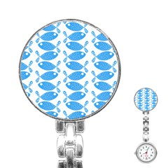 Fish Pattern Background Stainless Steel Nurses Watch by Nexatart