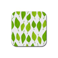 Spring Pattern Rubber Square Coaster (4 Pack)