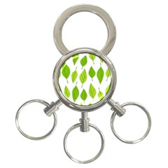 Spring Pattern 3 Ring Key Chains by Nexatart
