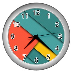 Color Schemes Material Design Wallpaper Wall Clocks (silver)
