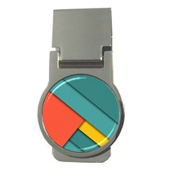 Color Schemes Material Design Wallpaper Money Clips (round)
