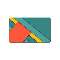 Color Schemes Material Design Wallpaper Magnet (name Card) by Nexatart