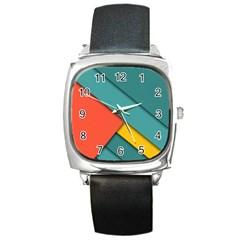Color Schemes Material Design Wallpaper Square Metal Watch by Nexatart