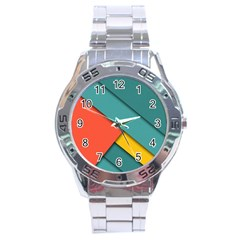 Color Schemes Material Design Wallpaper Stainless Steel Analogue Watch