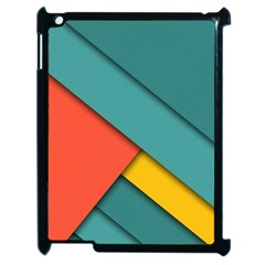 Color Schemes Material Design Wallpaper Apple Ipad 2 Case (black) by Nexatart