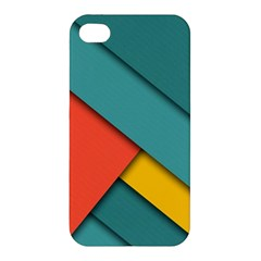 Color Schemes Material Design Wallpaper Apple Iphone 4/4s Premium Hardshell Case by Nexatart
