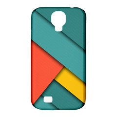 Color Schemes Material Design Wallpaper Samsung Galaxy S4 Classic Hardshell Case (pc+silicone) by Nexatart