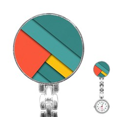 Color Schemes Material Design Wallpaper Stainless Steel Nurses Watch by Nexatart