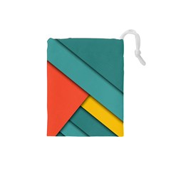 Color Schemes Material Design Wallpaper Drawstring Pouches (small)