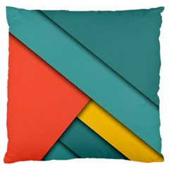 Color Schemes Material Design Wallpaper Large Flano Cushion Case (one Side)