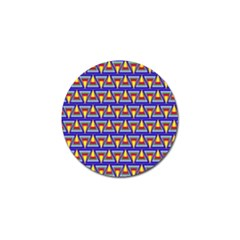 Seamless Prismatic Pythagorean Pattern Golf Ball Marker (10 Pack) by Nexatart