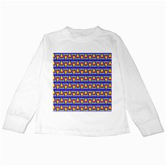 Seamless Prismatic Pythagorean Pattern Kids Long Sleeve T Shirts