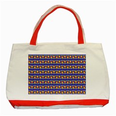 Seamless Prismatic Pythagorean Pattern Classic Tote Bag (red)