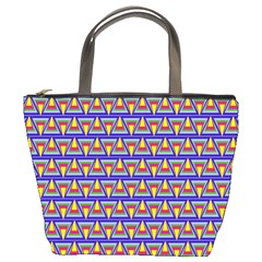 Seamless Prismatic Pythagorean Pattern Bucket Bags by Nexatart