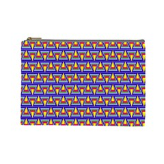 Seamless Prismatic Pythagorean Pattern Cosmetic Bag (large)  by Nexatart
