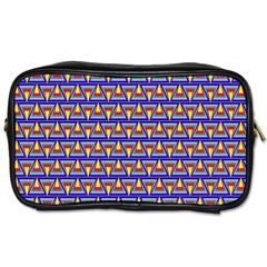 Seamless Prismatic Pythagorean Pattern Toiletries Bags 2 Side by Nexatart