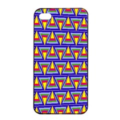 Seamless Prismatic Pythagorean Pattern Apple Iphone 4/4s Seamless Case (black) by Nexatart