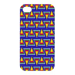 Seamless Prismatic Pythagorean Pattern Apple Iphone 4/4s Hardshell Case by Nexatart