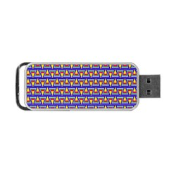 Seamless Prismatic Pythagorean Pattern Portable Usb Flash (two Sides) by Nexatart
