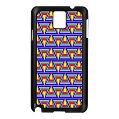 Seamless Prismatic Pythagorean Pattern Samsung Galaxy Note 3 N9005 Case (black)