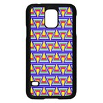 Seamless Prismatic Pythagorean Pattern Samsung Galaxy S5 Case (Black) Front