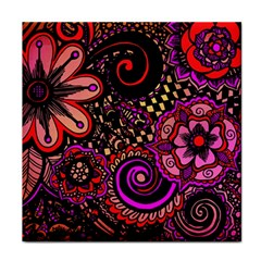 Sunset Floral Tile Coasters by Nexatart