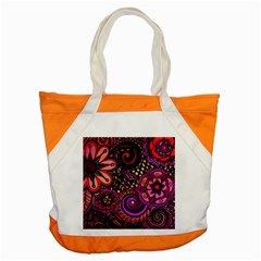 Sunset Floral Accent Tote Bag by Nexatart
