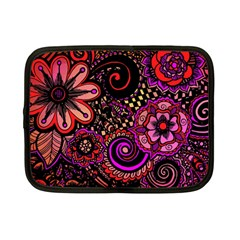 Sunset Floral Netbook Case (small)  by Nexatart