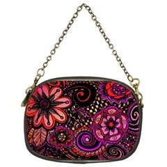 Sunset Floral Chain Purses (one Side)