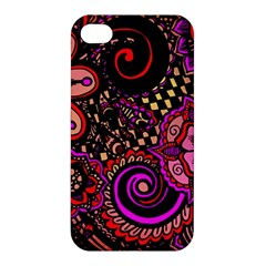 Sunset Floral Apple Iphone 4/4s Premium Hardshell Case
