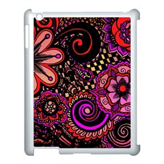 Sunset Floral Apple Ipad 3/4 Case (white) by Nexatart