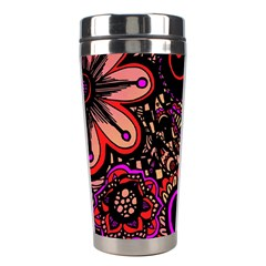Sunset Floral Stainless Steel Travel Tumblers by Nexatart
