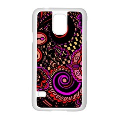 Sunset Floral Samsung Galaxy S5 Case (white)
