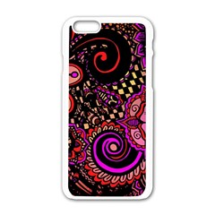 Sunset Floral Apple Iphone 6/6s White Enamel Case by Nexatart
