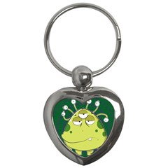 The Most Ugly Alien Ever Key Chains (heart)  by Catifornia