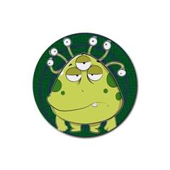 The Most Ugly Alien Ever Rubber Coaster (round)  by Catifornia