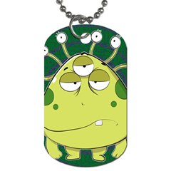 The Most Ugly Alien Ever Dog Tag (one Side) by Catifornia