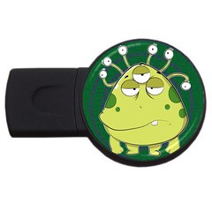 The Most Ugly Alien Ever Usb Flash Drive Round (2 Gb) by Catifornia
