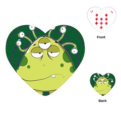 The Most Ugly Alien Ever Playing Cards (heart)  by Catifornia