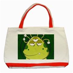 The Most Ugly Alien Ever Classic Tote Bag (red) by Catifornia