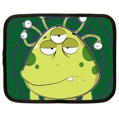 The Most Ugly Alien Ever Netbook Case (large) by Catifornia