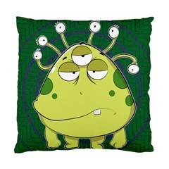 The Most Ugly Alien Ever Standard Cushion Case (one Side) by Catifornia