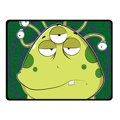 The Most Ugly Alien Ever Fleece Blanket (small) by Catifornia