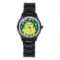 The Most Ugly Alien Ever Stainless Steel Round Watch by Catifornia