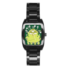The Most Ugly Alien Ever Stainless Steel Barrel Watch by Catifornia